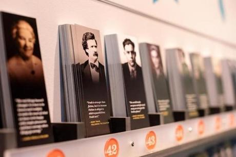 The Hometown Authors section of the new American Writers Museum in Chicago has interactive kiosks to let visitors discover the American authors who have lived and worked near them.
